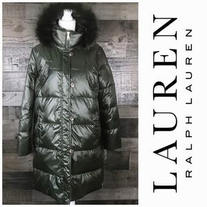 Lauren Ralph L. Down & Feather Hooded Jacket coat